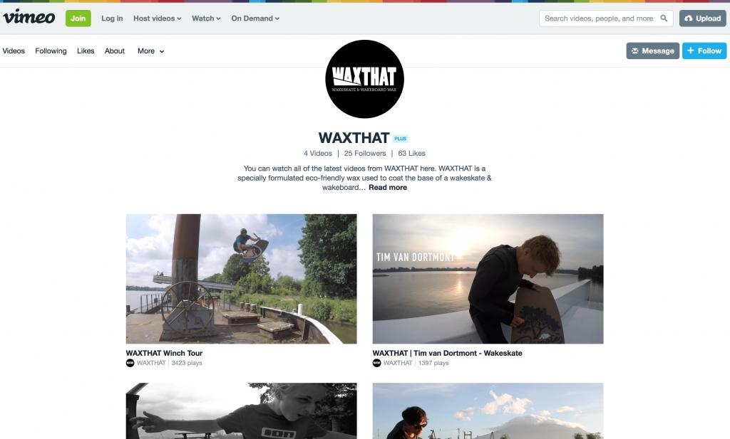 WAXTHAT on Vimeo